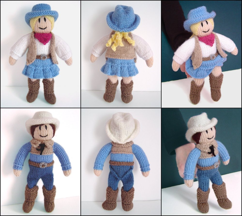 Knitting Pattern For Russian Dolls : Clare Scope-Farrell Novelty Knitting Patterns - Cowgirl ...