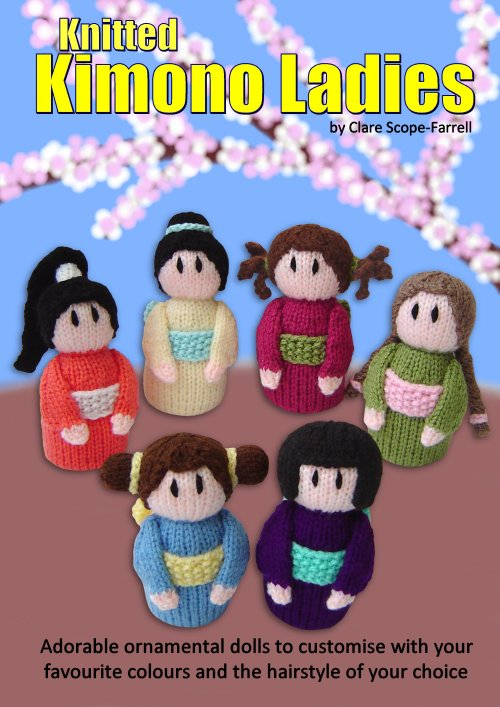 Clare Scope-Farrell Novelty Knitting Patterns - Knitted Kimono Ladies