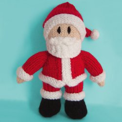 FREE KNITTING PATTERN FOR SANTA CLAUS - VERY SIMPLE FREE KNITTING PATTERNS