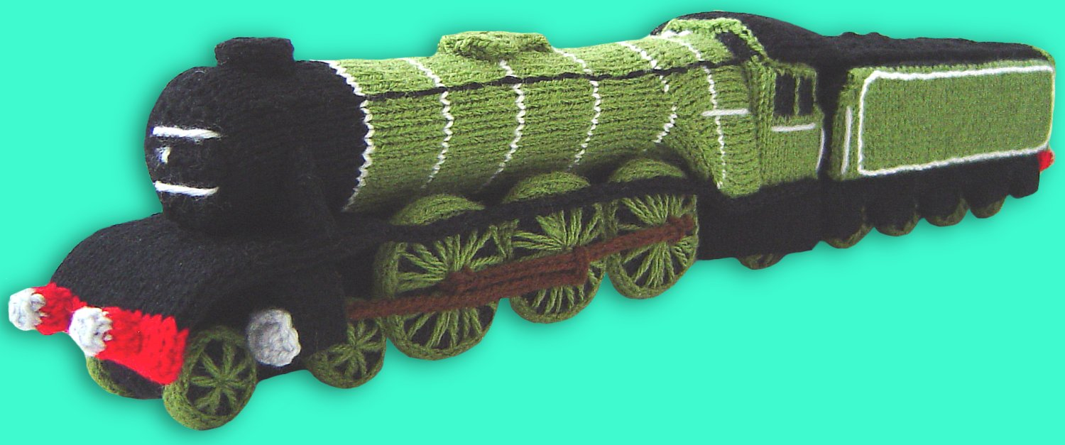 Knitting Pattern For Toy Train : Clare Scope-Farrell Novelty Knitting Patterns - News - Knitted Steam Train - ...