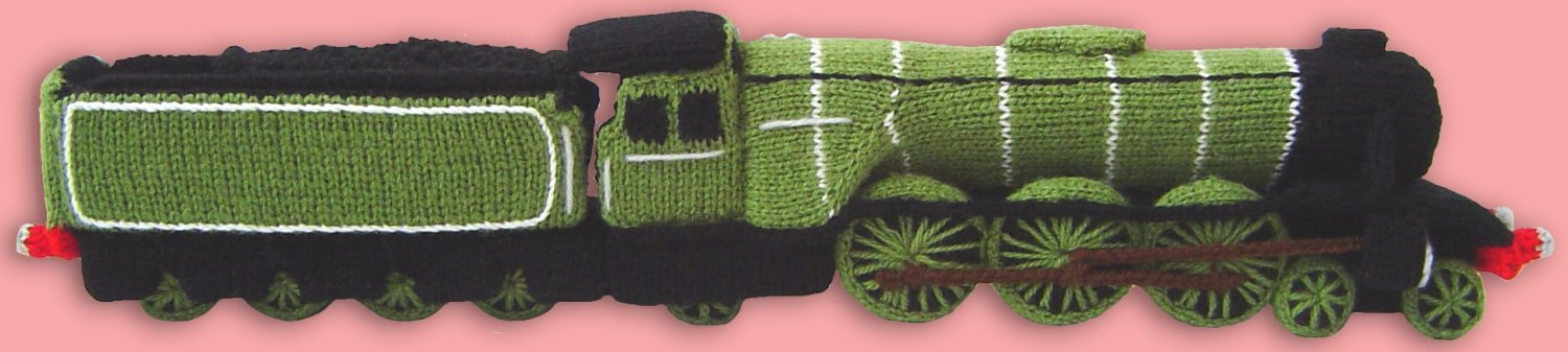 Train Knitting Pattern : Clare Scope-Farrell Novelty Knitting Patterns - News - Knitted Steam Train - ...