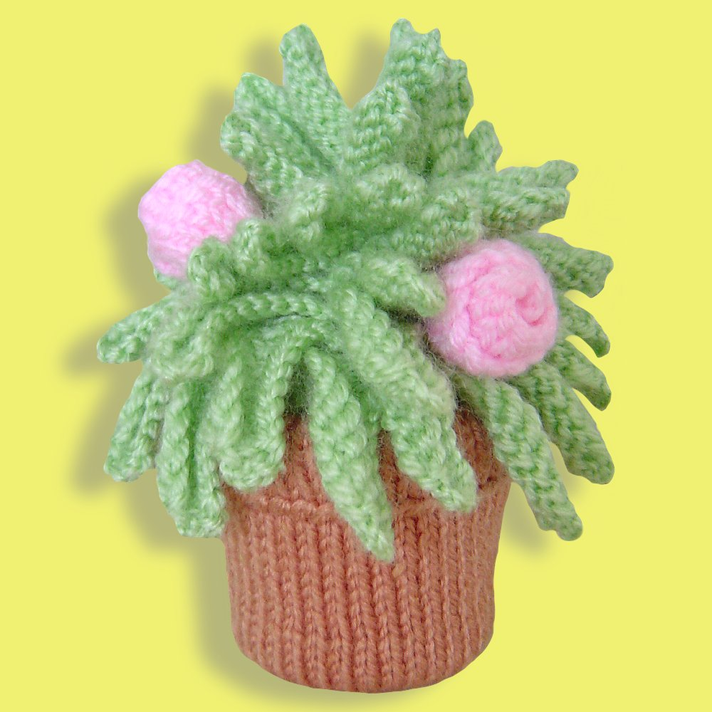 Clare scope farrell novelty knitting patterns free knitting miniature knitted houseplant dt1010fo